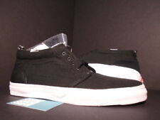 2011 VANS CANVAS CHUKKA '95 SUPREME BLACK WHITE PEBBLED LEATHER VN-00IA52A DS 12