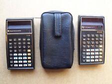 Texas Instruments Ti electronic calculators - Sr-51-Ii and Ti-55 w case