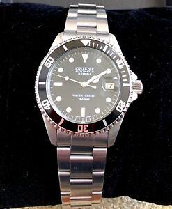 Orient Black Submariner Homage 2ER00001B Rare Automatic Men's Diver Watch