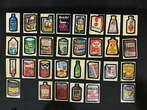1973 Topps Wacky Packages 1st Series 1 Complete Sticker White Card Set 30/30