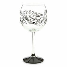 Disney Parks Be Our Guest Chalkboard Stemmed Red Wine Glass
