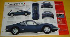 1971 Ferrari Dino 246 GT 2418cc V6 195 hp 3 Weber Carbs Info/Specs/photo 15x9