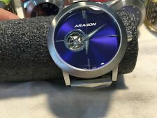 Aragon A191 Ultra Open 50mm Automatic Blue Dial