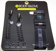 BODY GLOVE Luggage Strap and Zipper Pull Set  BLACK ~ NWT