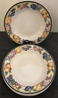 """Oneida """"Orchard"""" 8 inch Rimmed Soup Bowls"""