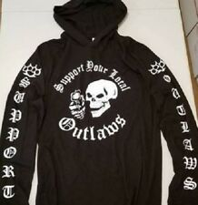 Support your local Outlaws Biker Motorcycle MC outlaw Hooded Sweatshirt Hoodie