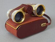Hensoldt Wetzlar Diadem Opernglas Rot Gold Perlmutt in Originaltasche 50er Jahre