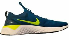 Nike Mens Odyssey React Running Training Shoes Green Abyss Volt Blue Size 14 New