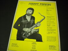 Johnny Pennino Tenor Sax King Of New Orleans 1980 Promo Poster Ad mint condition