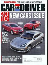 Car and Driver Magazine September 2009 Porsche Panamera, Nissan Nismo 370Z