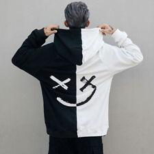 Hombre Estampado Sudadera con Capucha Holgado Hip-Hop Informal Jersey Abrigo Top