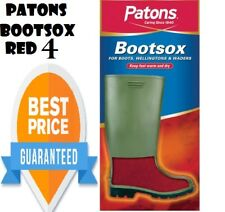 PATONS BOOTSOX RED-Warm Liner Sock Ladies Size 4/37