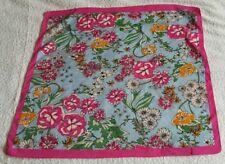 Zara Accessories Pink & Blue Square Scarf - 52cm square