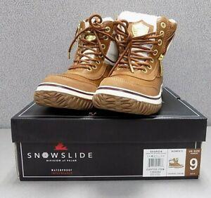 Pajar CANADA Women's Georgia Snowslide Cream Waterproof Leather Boots Size: 9