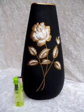 GEROLD Porzellan Vase schwarz / black mit Goldmalerei - handgemalt - Nr. 6807/I