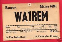 BANGOR ME LONG WA1REM 1973  AMATEUR RADIO QSL GEHRING TOLEDO OH POSTCARD