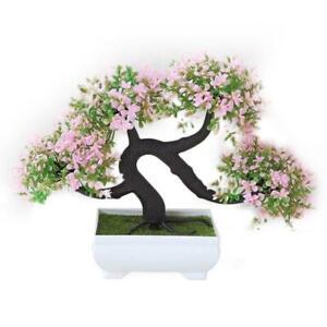 1Pc Artificial Flower Green Pot Plants Mini Simulated Guest-greeting Pine Bonsai