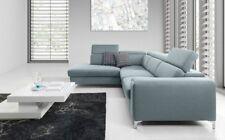 Ecksofa Sofa STELLA XL mit Schlaffunktion Mintgrün Ottomane Links