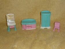 Sweet Streets Dollhouse Size Bedroom Furniture Lot Dresser Armoire Closet Vanity