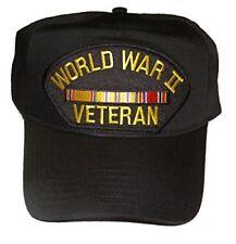 WWW II WORLD WAR TWO 2 VETERAN HAT CAP W/ ASIATIC PACIFIC RIBBONS