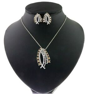 Cubic Zirconia Black Designer Pendant Necklace 34 MPS 3