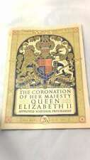 THE CORONATION OF HER MAJESTY QUEEN ELIZABETH II by unknown, Paperback, , Good