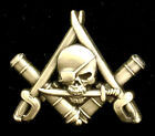 Cannons and Cutlasses Masonic Freemason Pirate Pin in Antique Gold