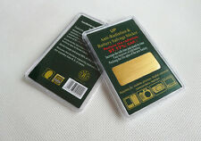 2 x Gold Anti Radiation Salvage Shield Battery Energy Saver Phone Stickers