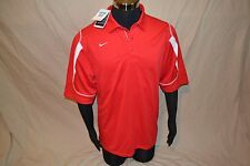 Nike Fit Dry Men's Stiff Arm Polo Shirt, Medium, Red & White