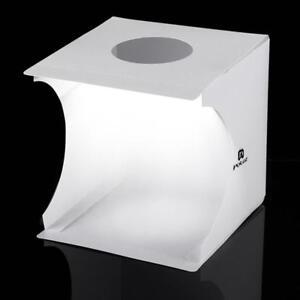 LED Portable Light Box Photo Studio Photography Shooting Tent Kit 6 Backdrops