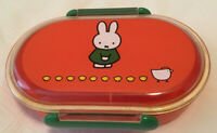 1998 Japan Miffy plastic Very Small Bento Box Fuji Bread Limited edition Japan