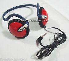 Kids On-ear Neckband Sport Style Wired Stereo Headphones Earphones Headset Red