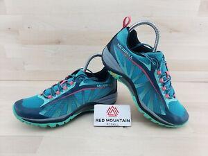 Merrell Siren Edge Blue Green Running Shoe Sneaker J35514 - Women's Size 8