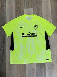 Nike Vaporknit Athletico Madrid 20/21 Neon Match Jersey CK7650-703 Size Small
