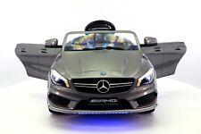 Mercedes CLA45 12V Kids Ride-On Car with R/C Parental Remote | Gray Metallic