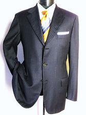 Brioni Roman Nomentano Navy blue Striped 100% wool 3 Button Jacket Mens -Size 40