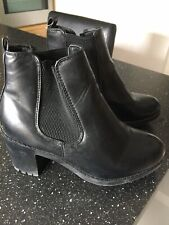 New Look Black Ankle Boots Size 5 / 38