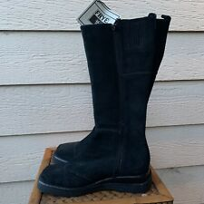 Frye Avenger Suede Boots Black Tall Women Zip Anthropologie Leather Casual 9