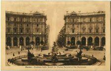 1915 Roma Fontana Naladi Piazza Termini Via Nazionale, Tram carrozze FP B/N VG