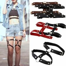 Style Stockings Harness PU Leather Garter Belt Suspenders Leg Ring Punk Gothic