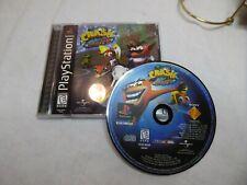 Crash Bandicoot Warped (Sony PlayStation 1, 1998) Complete Black label