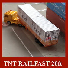 """HO Gauge """"TNT Railfast"""" Shipping Container Model Railway Card Kits 20ft 4 x 1:87"""
