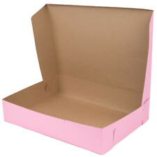 "50 Case Bundle 20"" x 14.5"" x 4"" Pink Half Sheet Cake Cupcake Donut Bakery Box"