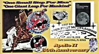 Apollo 11 50th Anniversary #6 Envelope Glossy Paper Collage  Moon Stamp