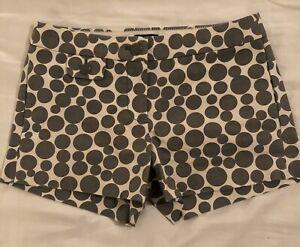 J Crew Gray Polka Dot Shorts Size 0