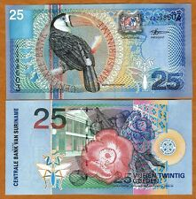 Suriname / Surinam 25 Gulden, 2000, P-148, UNC > colorful