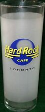 """Hard Rock Cafe TORONTO 6 3/8"""" Tall Frosted Jumbo SHOT GLASS GLASSWARE Mint New!"""