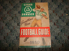 Grantland Rice's Cities Service Unmarked College Football Guide 1950 A17