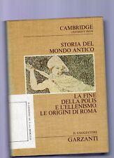storia del mondo antico-cambridge university volume V°