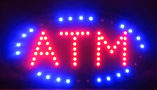 Atm Led Open Sign Bright Ani<Ated Red Blue Light Business Flash Chain On/Off